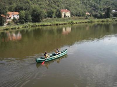 Vltava River in Sedlec