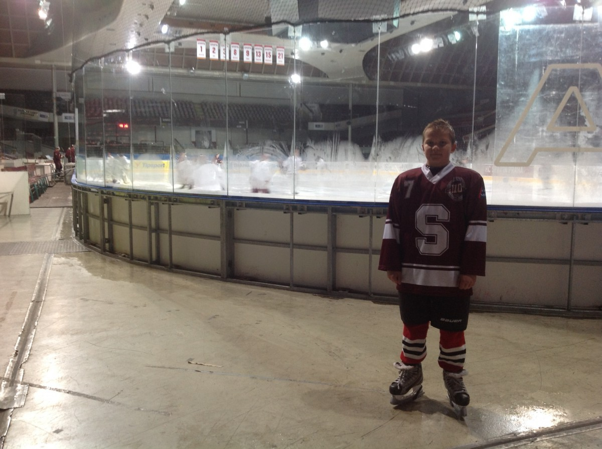 Filip joins HC Sparta U12 Ice Hockey Team