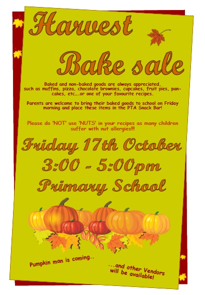 Harvest Bake Sale