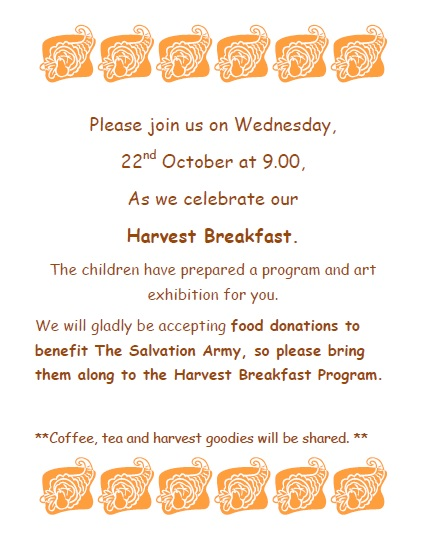 Harvest Breakfast at Early Years