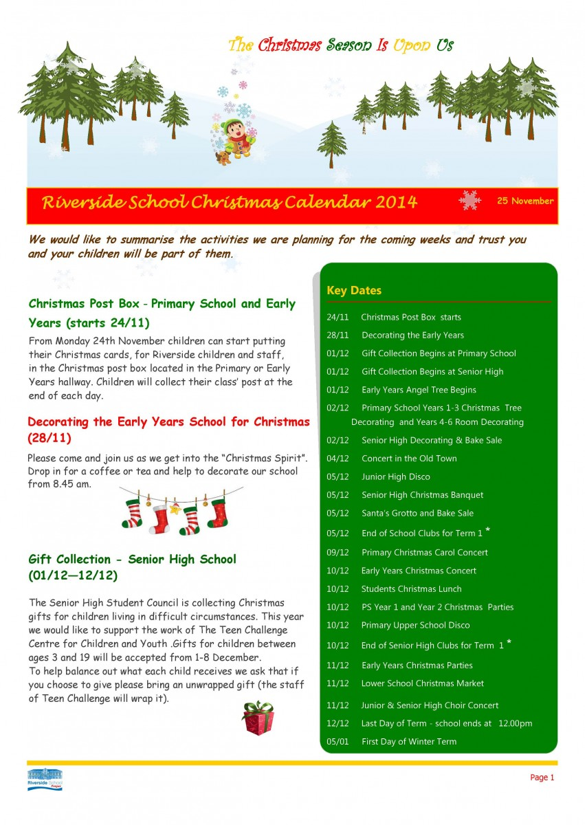 Christmas Newsletter - 2014_Page_1