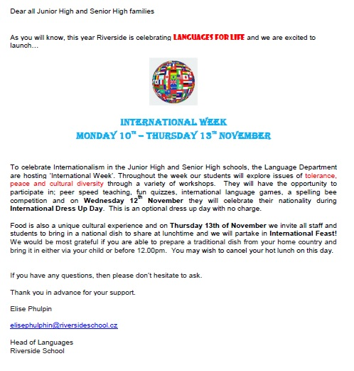 International Week 2014
