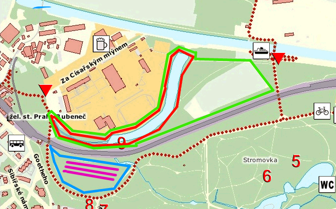 Stromovka Map - Cross Country Run