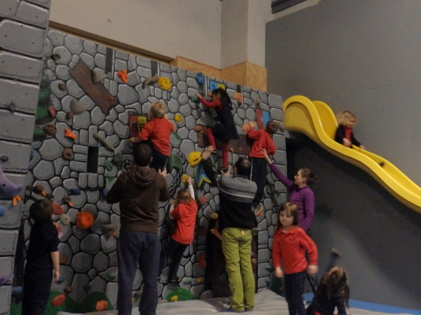 Reception Classes Go Rock Climbing