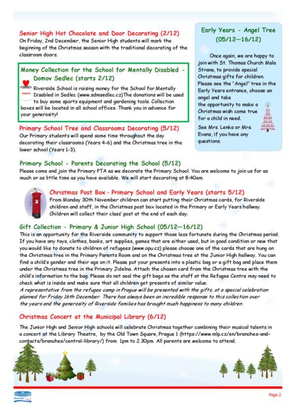 Riverside School Christmas Newsletter 2016